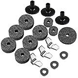 Futheda Lot de 18 accessoires de rechange pour cymbales avec base et 6...