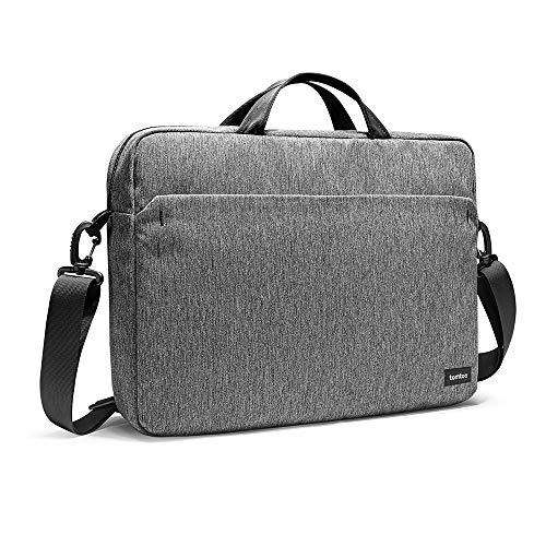 tomtoc 15.6 Inch Laptop Shoulder Bag for 16-inch New MacBook Pro 2019, 15-inch MacBook Pro, Surface Book 2, Dell XPS 15, Multi-Functional Organized Messenger Bag for HP ASUS Acer Lenovo 15.6 Laptop