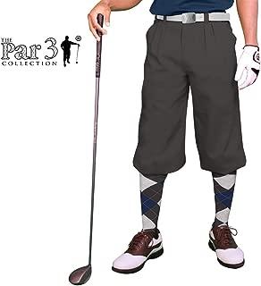 Golf Knickers Charcoal Mens 'Par 3' - Microfiber