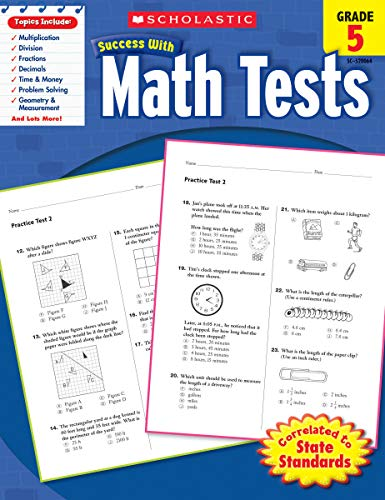 Scholastic Success With Math Tests Grade 5 Scholastic Success With Workbooks Tests Math