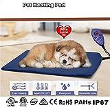 Cozywind Mascota Almohadilla Eléctrica Alfombrillas de Calefacción para Perros y Gato Impermeable Mantas de Cama Resistente a la Masticación 7 Niveles de Temperatura Ajustable,40 * 30 cm