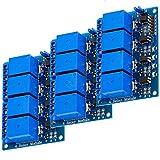 AZDelivery 3 x Modulo Relay a 4 canali 5V con optoaccoppiatore Low-Level-Trigger compatibi...