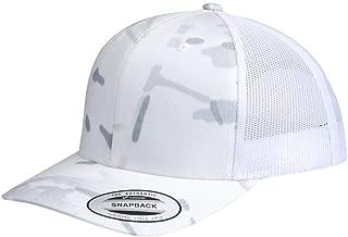 Yupoong Retro Trucker Hat & 2-Tone Snapback - 6606 Multicam Alpine/White