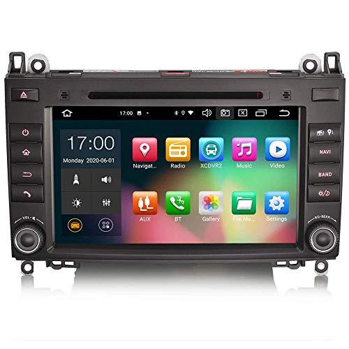 JALAL 8 Pulgadas Android 10.0 Car Stereo para Mercedes A/B Class W169 W245 Sprinter Viano Crafter Soporte Carplay GPS Sat Nav Android Auto Bluetooth DSP WiFi Dab + TPMS 8-Core 4GB RAM + 64GB ROM