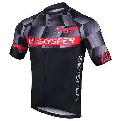 SKYSPER Ciclismo Maillot Hombres Jersey Mangas Cortas de Ciclismo Ropa Maillot Transpirable...