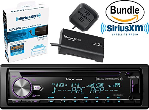Pioneer DEH-X8800BHS CD Receiver with MIXTRAX, Bluetooth, HD Radio, Bluetooth Hands-Free Calling & Wireless Audio Streaming, Dual USB & SiriusXM SXV300V1 Tuner and Antenna (SiriusXM Value Bundle)