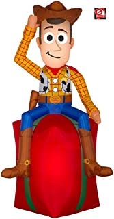 AIR CHARACTERS 5 1/2' Gemmy Airblown Inflatable Toy Story Woody On Yard Decoration 80000