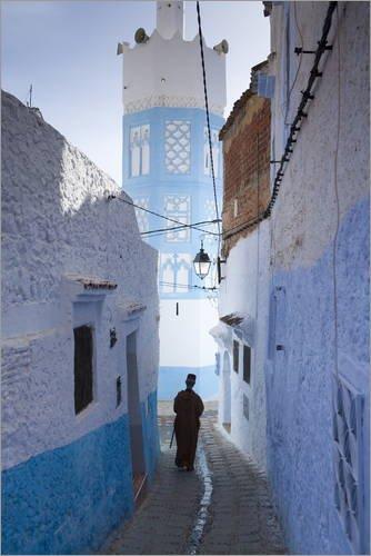 Póster 60 x 90 cm: Medina, Chefchaouen, Morocco de Marco Cristofori/Robert Harding - impresión artística, Nuevo póster artístico