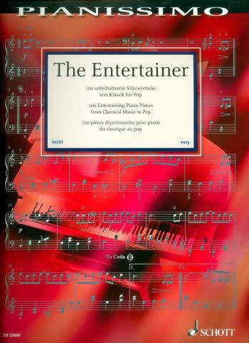 The Entertainer - 100 unterhaltsame Klavierstücke von Klassik bis Pop - Notenbuch mit bunter herzförmiger Notenklammer - Schott Music - ED22600-9783795710668