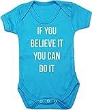 HippoWarehouse If You Believe It You Can Do It Chaleco para bebés Pijama de...