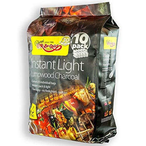 Bar-Be-Quick Instant Light Lumpwood Charcoal, 13.5kg (10 Pack)