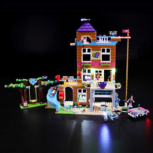 BRIKSMAX Led Beleuchtungsset für Lego Friends Freundschaftshaus, Kompatibel Mit Lego 41340 Bausteinen Modell - Ohne Lego Set