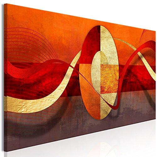 murando Cuadro en Lienzo Naranja 150x50 cm 1 Parte Impresión en Material Tejido no Tejido Impresión Artística Imagen Gráfica Decoracion de Pared Abstracto a-A-0358-b-a