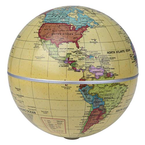 TMY Büro Globus 5,5-Zoll-Globales solarbetriebenes Auto SpinningWorld-Globus Modell mit selbstdrehendem Globus Lehrressourcen Geografie (Größe : 14CM)