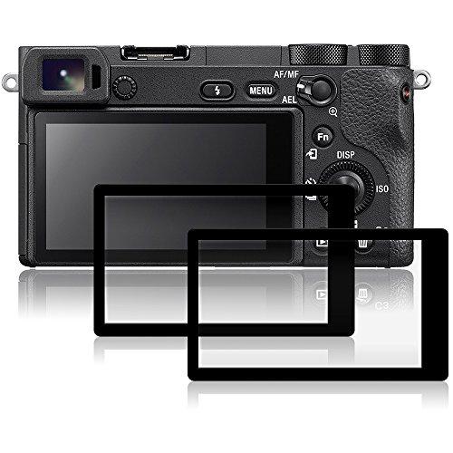 AFUNTA Protectores de Pantalla para Sony A6500, 2 Paquetes Películas de Protección de Vidrio Temperado Antirayas para Cámaras Digitales DSLR