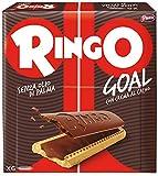 Pavesi Ringo Biscotti Farciti con Crema al gusto Cacao per Colazione o Gustoso Snack, Senza Olio di Palma, Formato Famiglia - Confezione da 6 X 55g