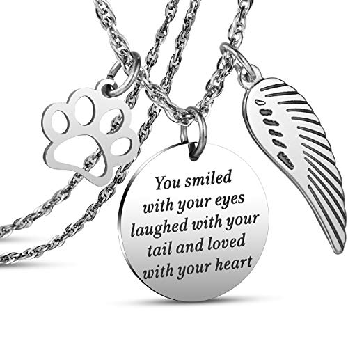 JanToDec Jewelry Pet Memorial Necklace Loss of Pet Memory Gift Dog Cat Loss Pendent Necklace, You...