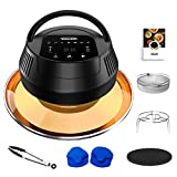 MASCARRY Air Fryer Lid for Instant Pot, 8 In 1 Instant Pot Air Fryer for 6/8 Qt Pressure Cooker, Turn Your Pressure Cooker Into Air Fryer in Seconds with LED Touchscreen, Air Fryer Accessories and ETL Safety Protection for Air Frying