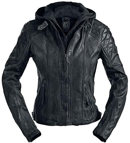 Gipsy Chasey Frauen Lederjacke schwarz 5XL 100% Leder Casual Wear, Rockwear