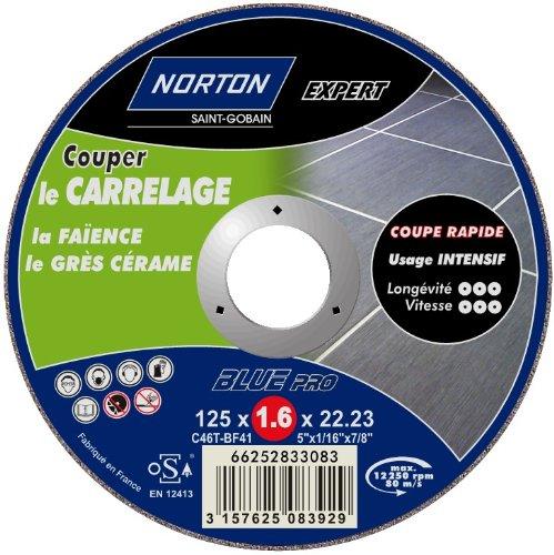 Norton Expert - Disco da taglio ultrasottile per piastrelle, 125 x 1,6 x 22,2 mm