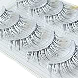ICYCHEER Makeup Ultral Light Slim Japanese Style Air Eyelashes Natural Reusable Fake Eye Lashes Mink Long Soft Lashes Easy Wear Nude Look (001)
