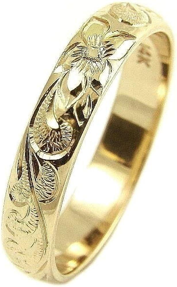 14K yellow gold custom hand plumeria scro engrave Ranking TOP3 Hawaiian New Free Shipping queen