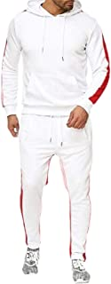Mens 2 Piece Tracksuit Set Sweatshirt Bodycon Sweatpants Jogger Sets