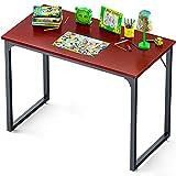 Coleshome Computer Desk 31', Modern Simple Style Desk for Home Office, Sturdy Writing Desk,Teak