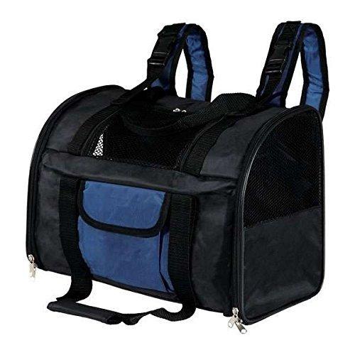 Trixie 2882 Rucksack Connor, 42 × 29 × 21 cm, schwarz/blau