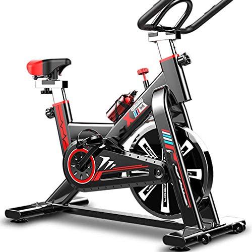 WJFXJQ Indoor Ciclismo Bicicleta Inicio Gimnasio Vertical Ejercicio Fitness Bikes Ejercicio Entrenamiento Silent Cinturón Drive Drive Bike con manillares Ajustables y Asiento Ideal Cardio Trainer