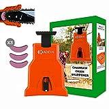 Affila catena motosega portatile con kit 3 pietre per affilare ideale per la vestizione a catena sul posto di lavoro affilatrice catena motosega arancione