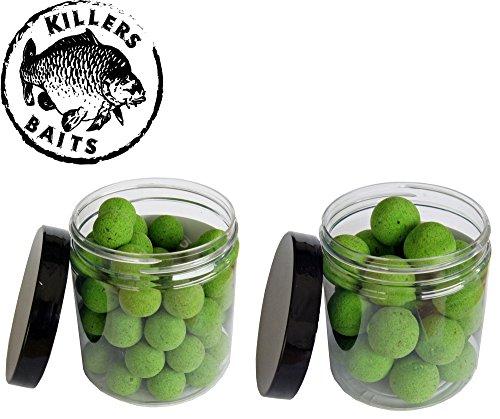 Carp Killers Pop Up Boilies Green Sardina 100g (16mm / 20mm), Karpfenangeln, Karpfenboilies, Angeln auf Karpfen, Anfüttern, Boiliemontage, Durchmesser:16mm