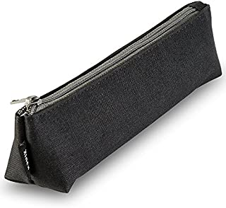 Portable Stylish Pen Bag,Stationery Pouch,Multi-Colored Pencil Bag,Cosmetic Pouch Bag,Compact Zipper Bag (Black)