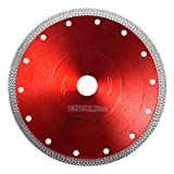 Kitmose 7 inch Diamond Saw Blade 7' 180mm Cutting Disc Wheel for Cutting Porcelain Tiles Granite Marble Ceramics Works with Tile Saw and Angle Grinder (Red, 7' - 1pc)