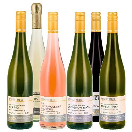 Weingut Mees SOMMERWEIN TROCKEN PROBIERPAKET Wein Weiß, Rosé, Secco Deutschland Nahe Paket (6 x 750 ml)
