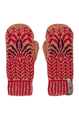 Öjbro Handschuhe aus 100 % Merinowolle, weich, dick und extrem warm (wie von Raynauds Assn), in Schweden hergestellt - Rot - Mittel
