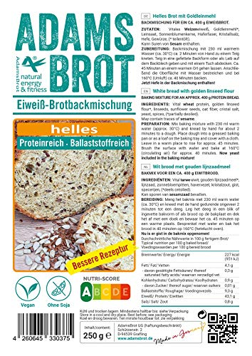 Adamsbrot White Brotbackmischung Low Carb 250g - 2