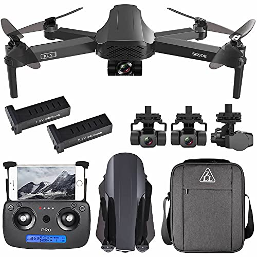 ZLL SG908 GPS FPV Drone with 4K HD Camera 3-Axis Gimbal 5G WiFi Brushless Foldable RC Quadcopter 1.2km Distance VS SG906 Max (with 2 Batteries)