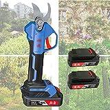 1yess Drahtlose elektrische Gartenschere mit 2 Satz Lithium-Batterie Powered Baum Baumschere, 25 mm Schnittdurchmesser, 4-6 Arbeitsstunden