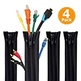 Kabel-Management-Schlauch - Rantizon 19.7' Cable Organizer Sleeve, Kabel Management-System für...