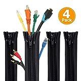 Rantizon, Sistema di gestione dei cavi, manicotto da 50 cm, organizer regolabile per TV, c...