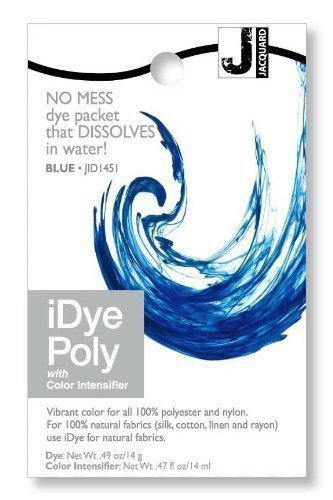 Jacquard iDye Poly - Fabric Dye for Polyester and Nylon (Various Colours Available) (Blue) by Jacquard