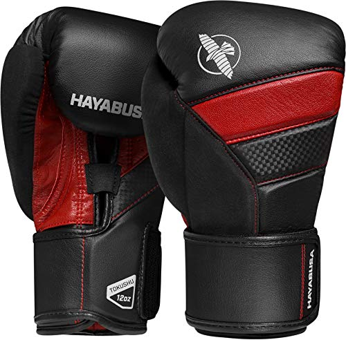 Hayabusa T3 Boxing Gloves for Men and Women - Black/Red, 14oz