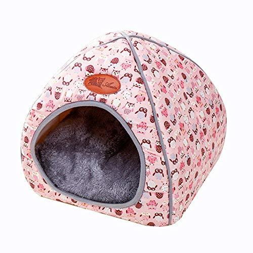 PENVEAT Kleines Haustier Hundehütte Zwinger Bett Matte Katze Decke Haustiere Zelt Entfaltung zu verdicken Winter Pet Betten Matratze Flanell Stoff warm, 2, XL