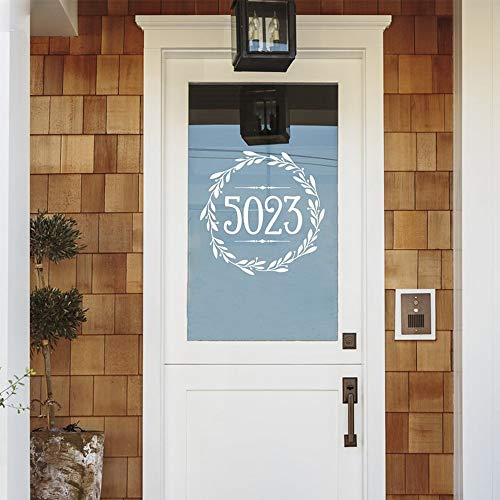 Tianpengyuanshuai creatieve persoonlijk huisnummer wanddecoratie modieus zelfklevend deur vinyl woonkamer muursticker