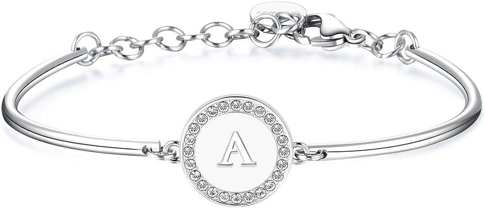 Brosway chakra trendy bracciale per donna in acciaio e cristalli swarovski BHK124