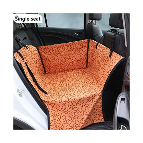 without Waterproof Oxford Cloth Pet Dog Car Carrier Seat Cover Breathable Dog Blanket Rear Back Mat Hammock For Dogs Cats Transportin (Color : D(single seat))