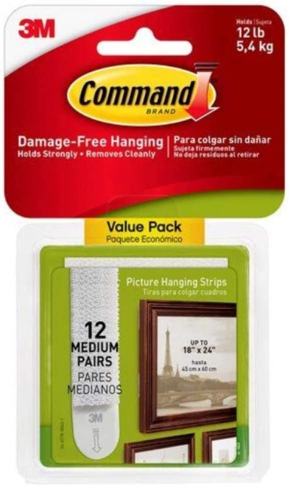 Super intense SALE Command Medium Picture-Hanging Strips White Kansas City Mall 24-Sets