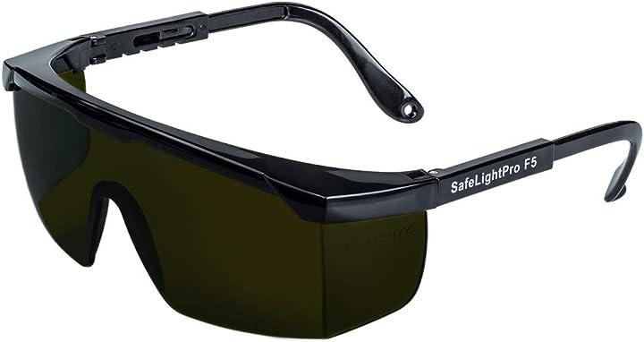Occhiali safelightpro f5 protezione speciale per gli occhi dagli impulsi di luce (luce pulsata) agetech B009GFML20