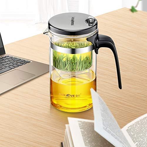 BBTY Tetera de Vidrio Tetera Desmontable y Lavable Calidad de té Elegante Taza de té de Calor Resistente al Calor Taza Delicada Té Art Pot (Capacity : TP160 500ml, Color : TP160)